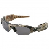 Polarized Sunglasses with Built-In Video Camera (Camo)